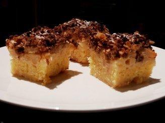 Obuoliu pyragas su kondensuotu pienu (rududu)