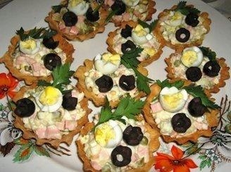 Tartaletės su balta mišraine