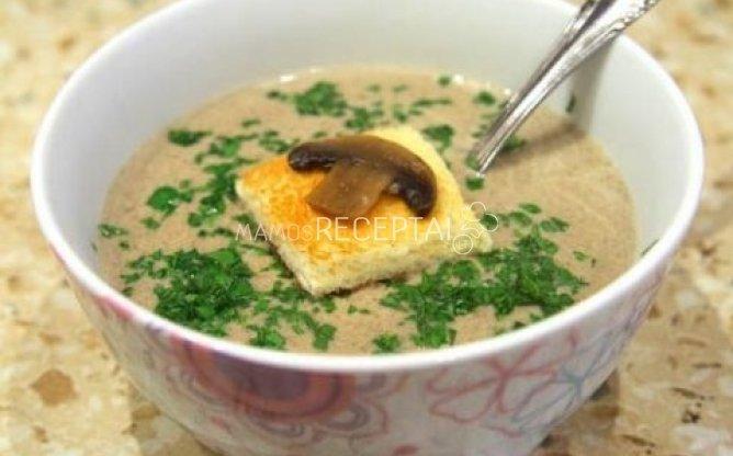 Tiršta pievagrybių sriuba