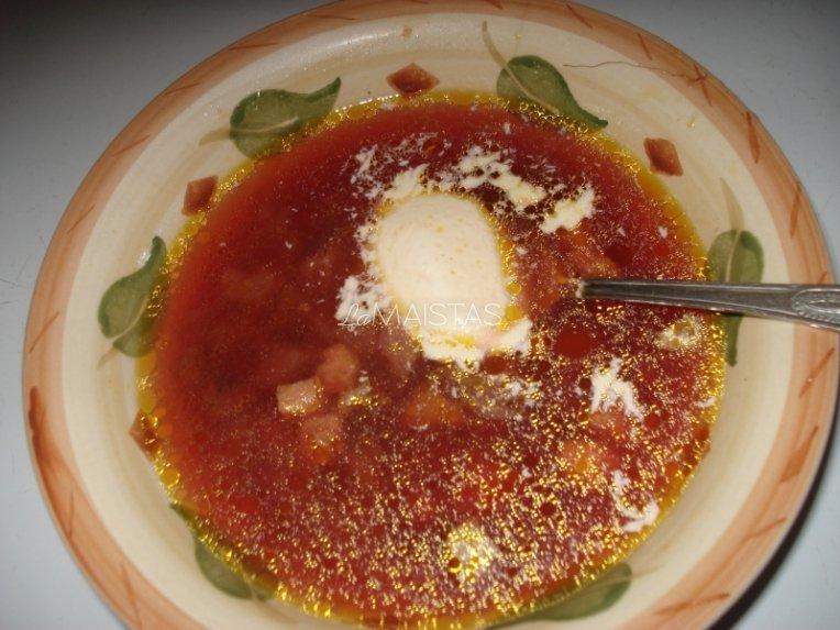 Gardi barščių sriubytė