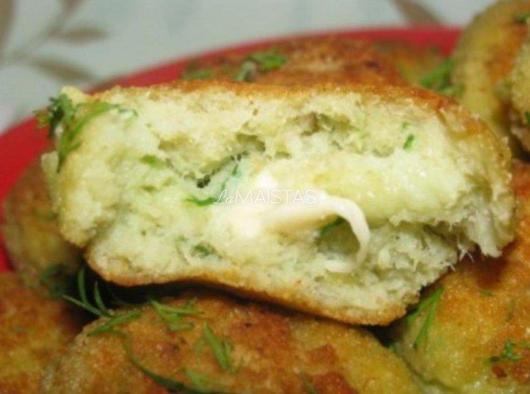 Žuvies kukuliai su sūrio įdaru