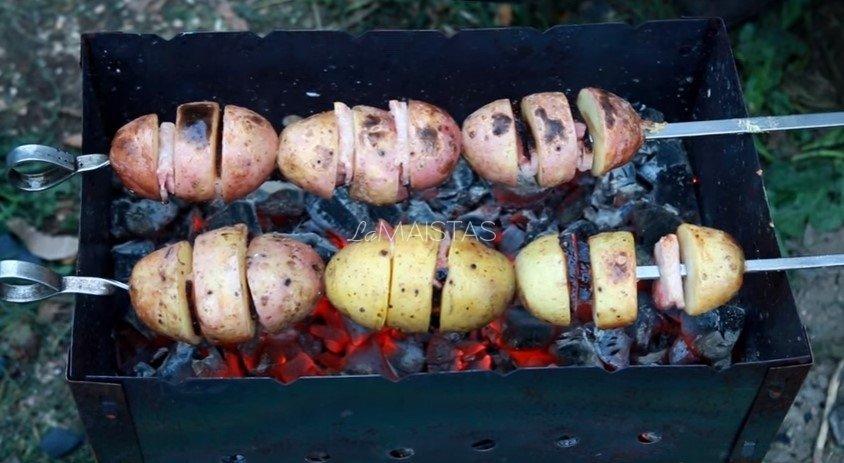 Ant iešmo keptos bulvės
