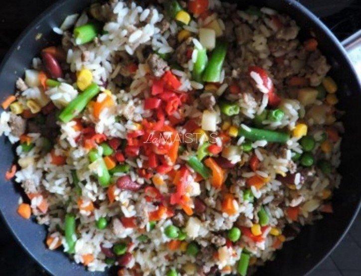 Ryžiai meksikietiškai - su jautiena ir daržovėmis