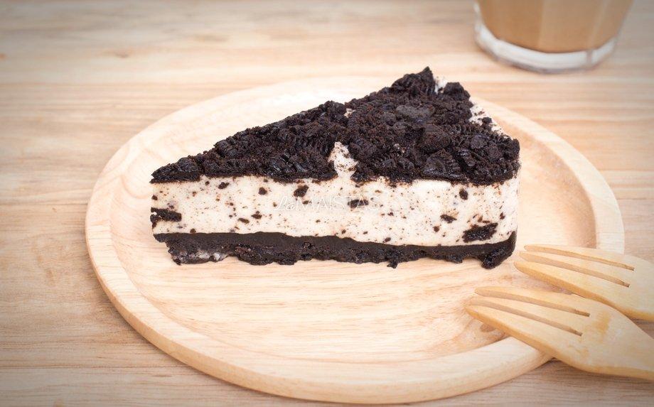 Nekeptas Oreo sausainių tortas