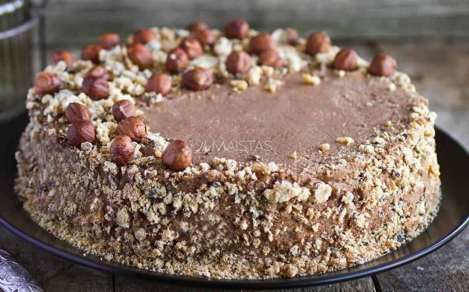 """Morenginis tortas """"Dainava"""" pagal senÄ…jÄÆ  receptÄ…"""
