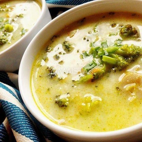 Brokolių ir pievagrybių sriuba