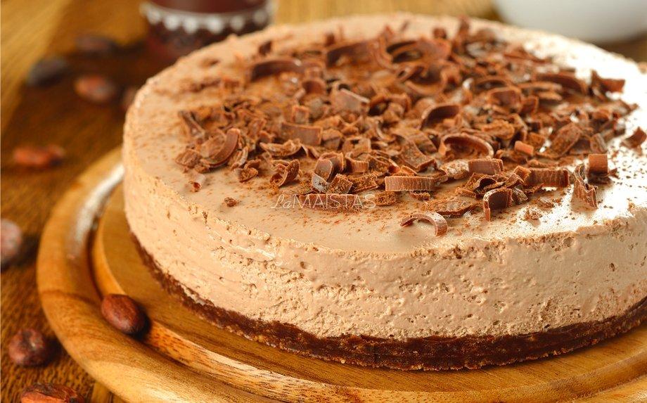 Nekeptas šokoladinis maskarponės tortas