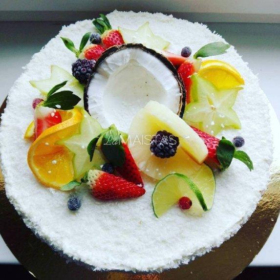 Tortas Pina Colada su varškės ir maskarponės kremu