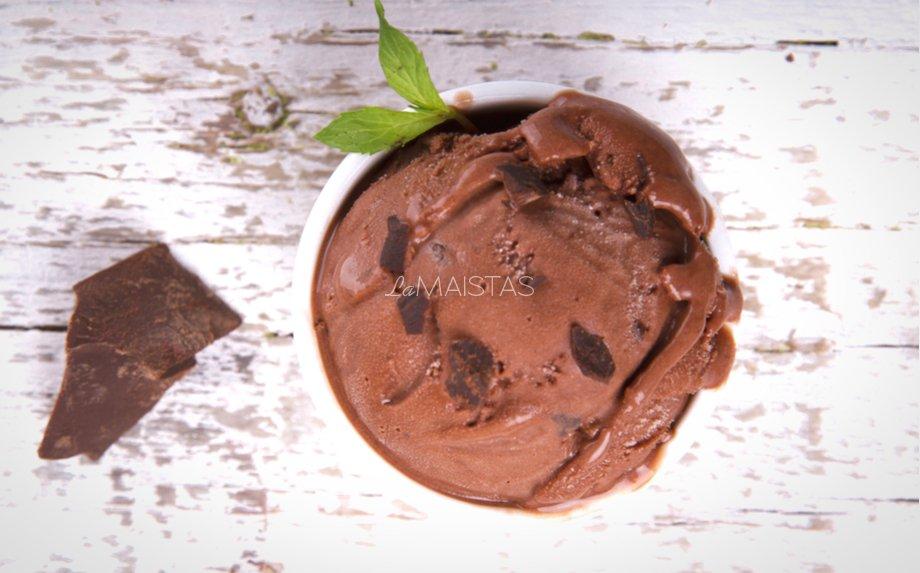 Naminiai šokoladiniai ledai be cukraus