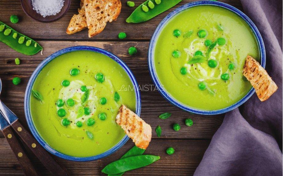 Trinta žaliųjų žirnelių sriuba
