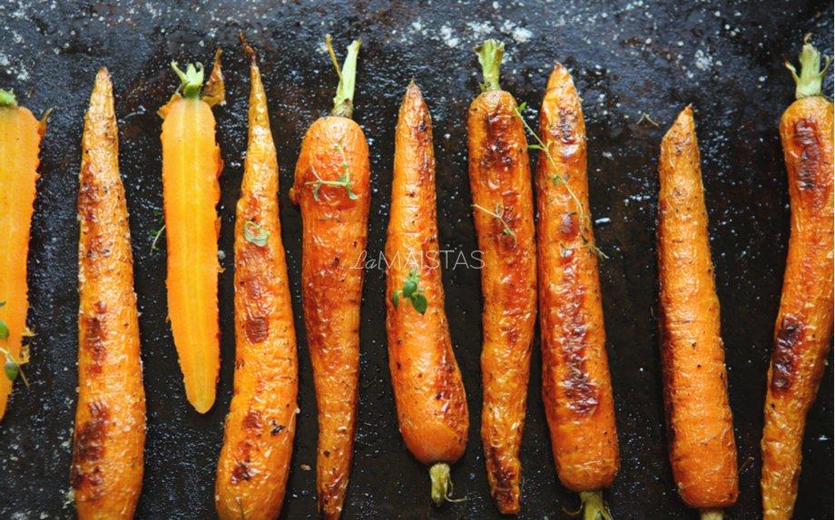 Orkaitėje keptos šviežios morkytės