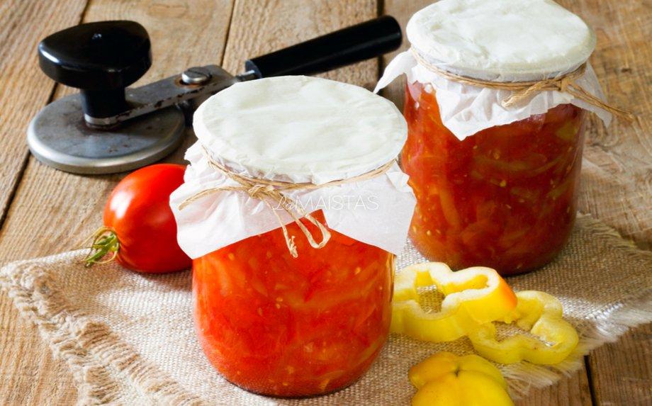 Pats skaniausias Lečo žiemai iš pomidorų ir paprikų