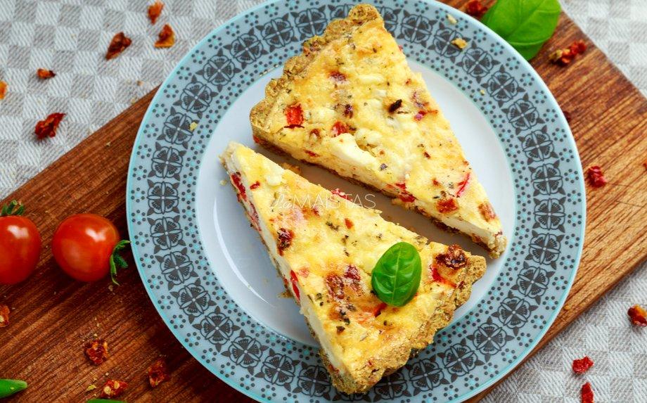 Varškės ir daržovių pyragas
