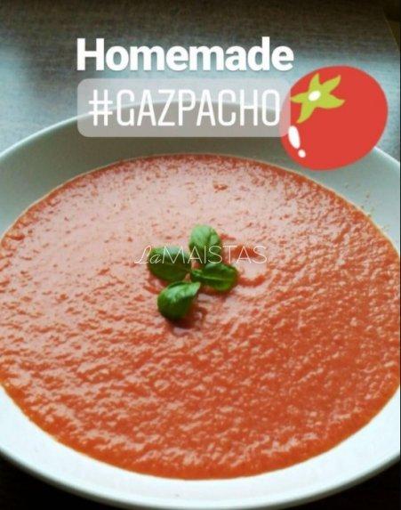 Gazpacho - šalta trinta pomidorų sriuba