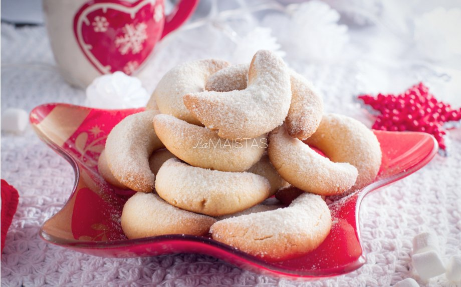 Austriški vaniliniai Kalėdiniai sausainiai Pasagėlės (Vanillekipferl)
