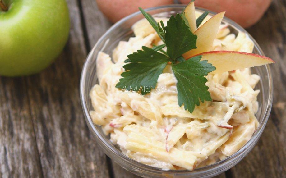 Bulvių salotos su obuoliais