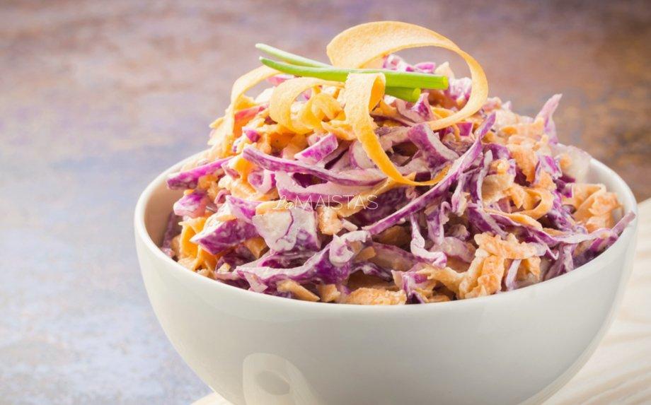 Kopūstų salotos be majonezo