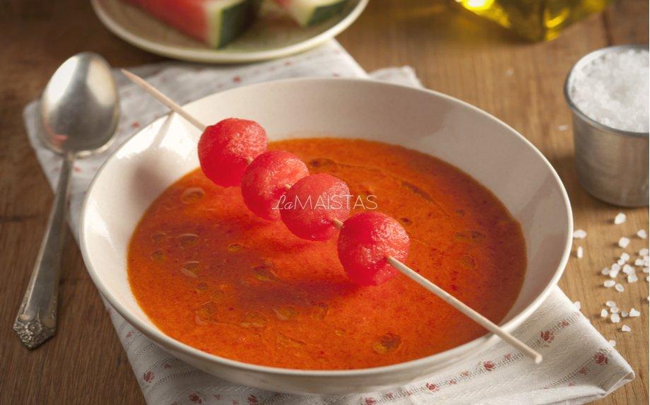 Šalta trinta arbūzų ir pomidorų sriuba