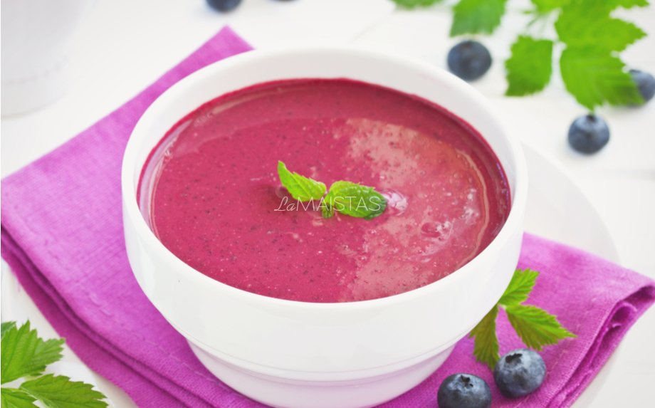 Šalta mėlynių sriuba