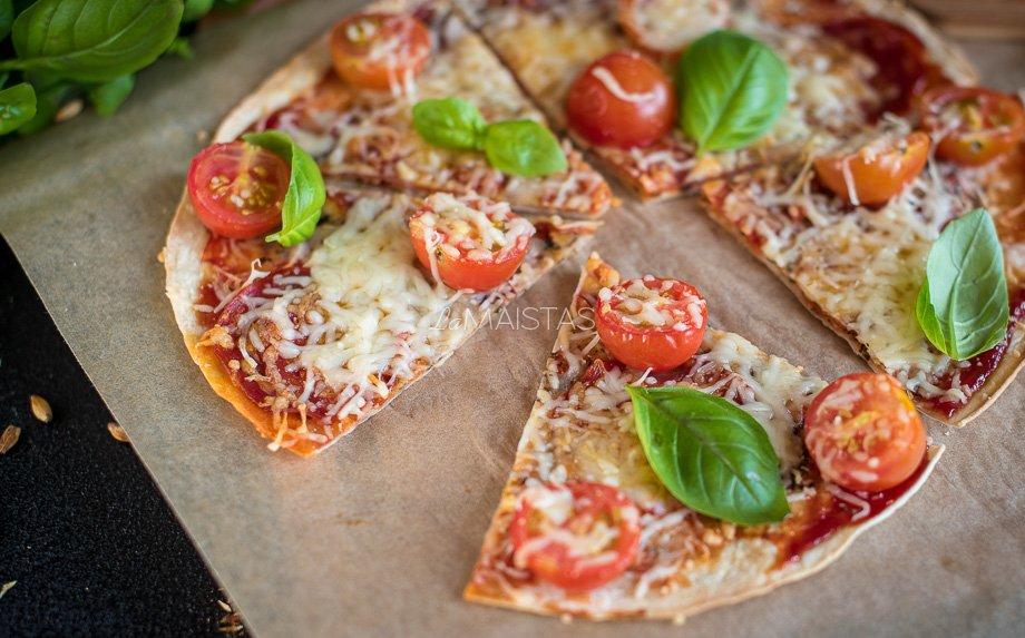 Traški tortilijos pica - labai greita!