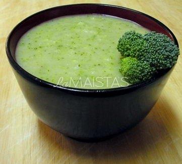 Pieni�ka sriuba su brokoliais