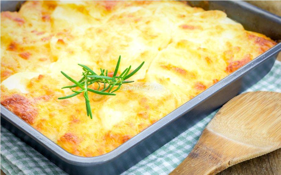 Bulvių apkepas su sūriu Julia Child