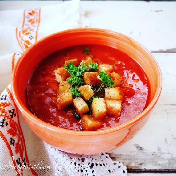Pomidorinė sriuba su ryžiais ir daržovėmis