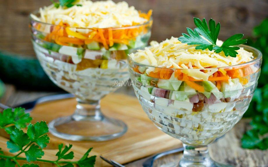 Lašišos salotos mišrainė
