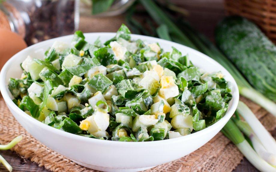 Kiaušinių salotos be majonezo