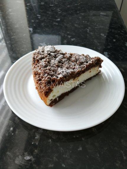 Kakavinis varškės pyragas su kokosiniu varškės įdaru