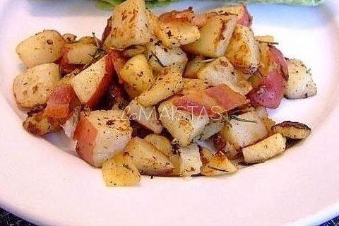 Bulvės su mairūnu