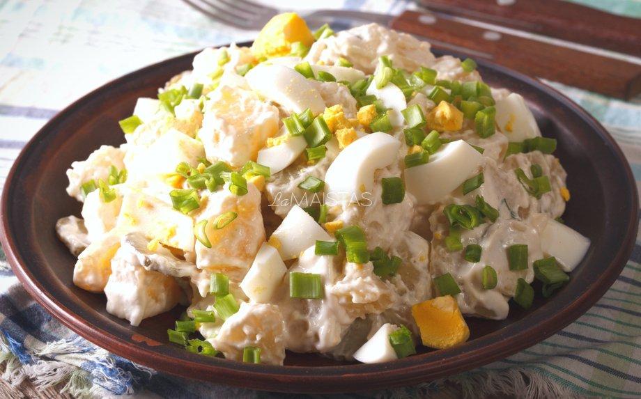 Bulvių salotos mišrainė