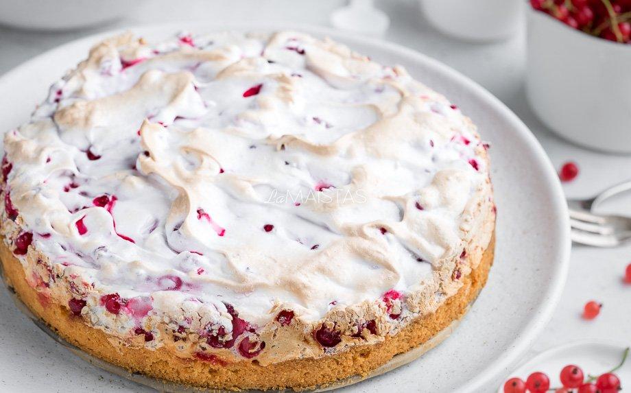 Morenginis raudonųjų serbentų pyragas