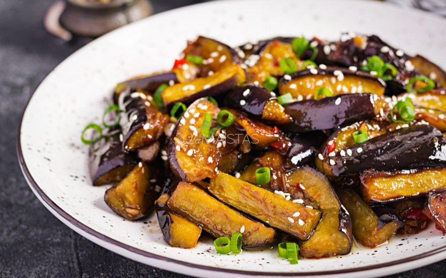 Kiniški baklažanai saldžiarūgščiai