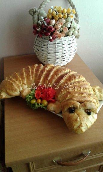 Mėsos pyragas krokodilas