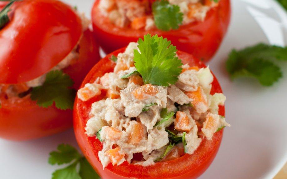Greitos tuno salotos (be majonezo)