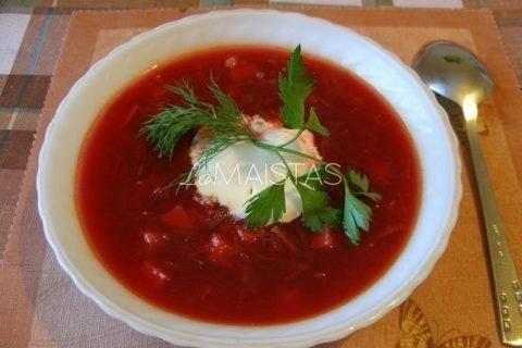 Burokėlių sriuba pradedantiems