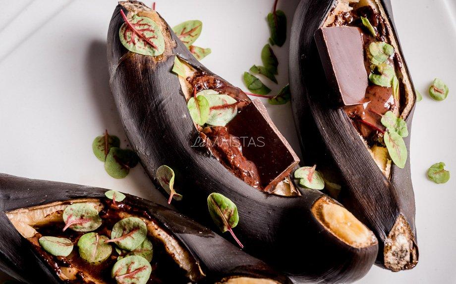 Kepti bananai su šokoladu