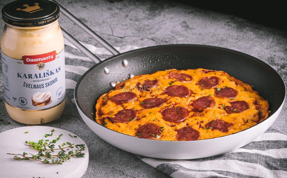 Keptuvėje kepta pica