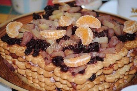 Sausainių pyragas