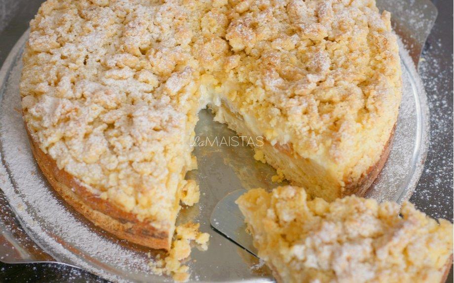 Trupininis obuolių pyragas su maskarpone