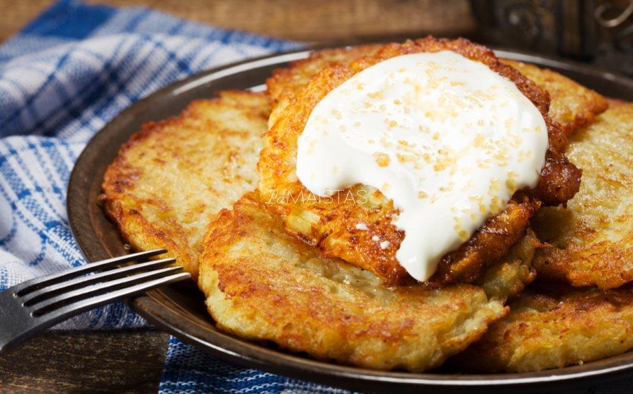 Bulviniai blynai su sūriu (be miltų)