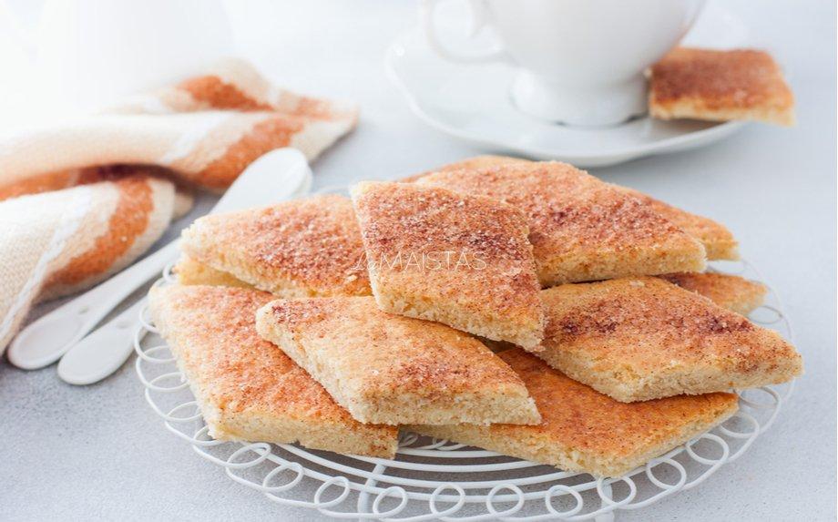 Greiti tradiciniai sausainiai su cinamonu