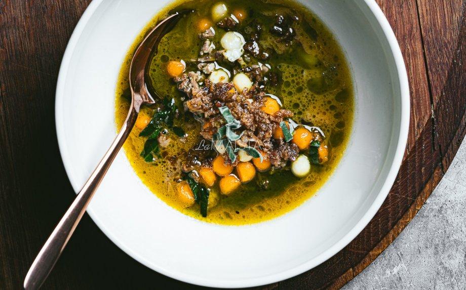 Antienos sriuba su moliūgais ir pastarnokais