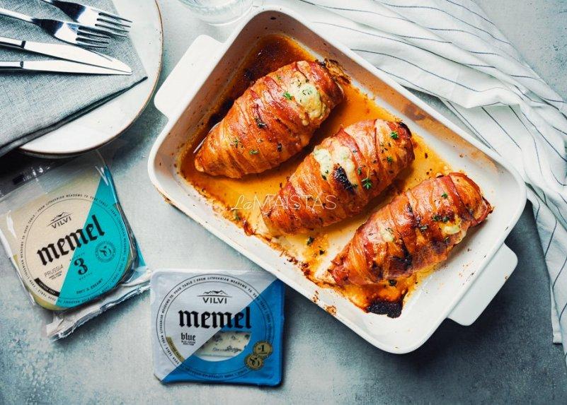 Vištienos kepsneliai orkaitėje su sūriu ir šonine