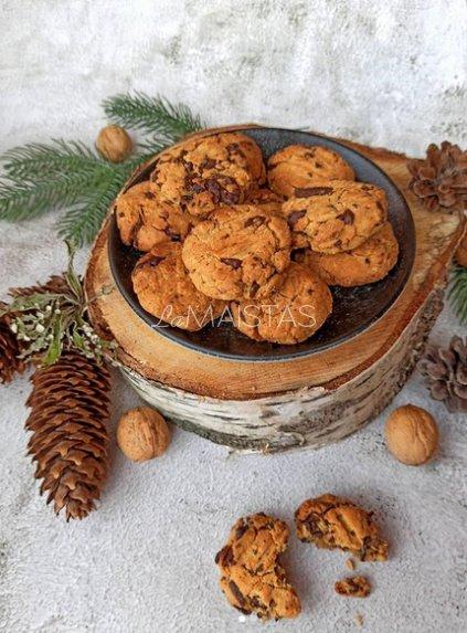 Riešutų sviesto sausainiai su šokolado gabaliukais
