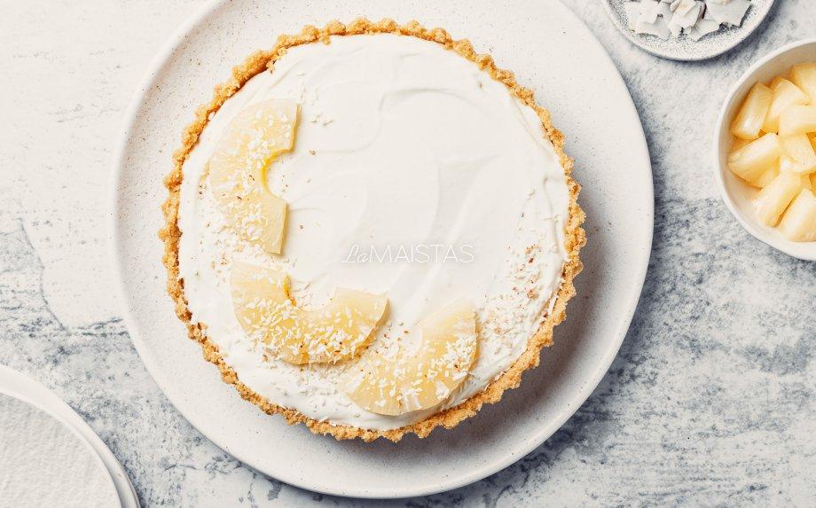 Gaivus nekeptas maskarponės tortas Pina Colada