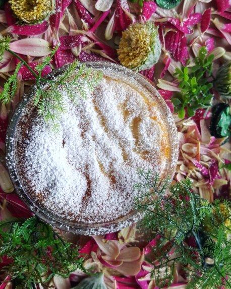 Dangiškas maskarponės ir rikotos apkepas primenantis klasikinį sūrio pyragą