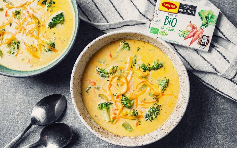 Brokolių ir sūrio sriuba