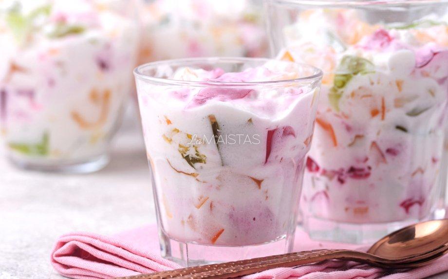 Gaivus jogurtinis želė desertas